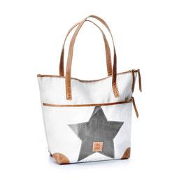 360° Shopper Deern weiß Stern grau
