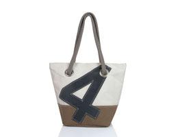 727 Shopper Handtasche Legende weiß/braun Nr. 4 grau