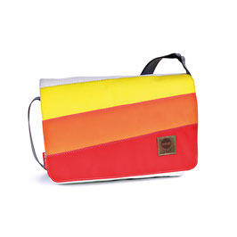 360° Messenger Bag Barkasse mini 3 Balken rot