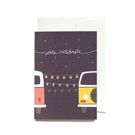 """Grußkarte """"Let´s celebrate"""" mit Umschlag"""