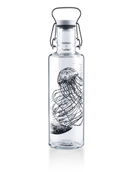 "Soulbottles Trinkflasche aus Glas ""Jellyfish in the Bottle"" 0,6l"