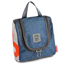 360° Kulturtasche Matrose XL weiß/blau Zahl orange