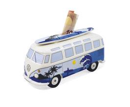 VW T1 Bus Spardose 1:18 mit Surfbrett Welle Surf