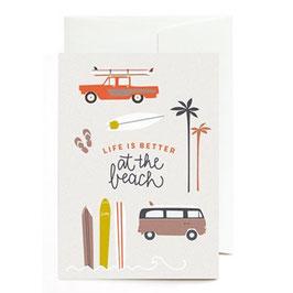 "Grußkarte ""Life is better at the Beach"" mit Umschlag"
