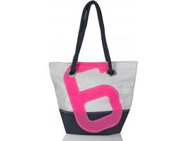 727 Shopper Handtasche Legende weiß/blau Nr. 6 pink