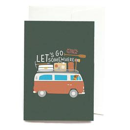 "Grußkarte ""Let´s go somewhere"" mit Umschlag"