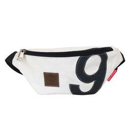 360° Bauchtasche Bum Bag weiß Zahl grau