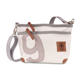 360° Handtasche Lütt Deern weiß/grau Zahl grau