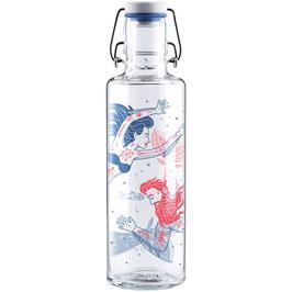 """Soulbottles Trinkflasche aus Glas """"Meermenschen"""" 0,6l"""