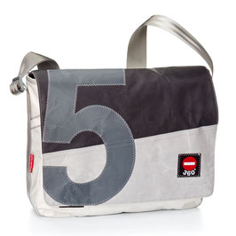 360° Messenger Bag Barkasse L weiß/grau