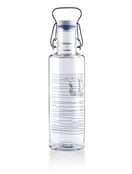 """Soulbottles Trinkflasche aus Glas """"Heimatwasser"""" 0,6l"""