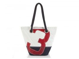 727 Shopper Handtasche Legende weiß/blau Nr. 3 rot