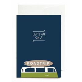 "Grußkarte ""Let´s go on a Roadtrip"" mit Umschlag"
