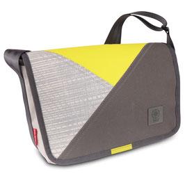 360° Messenger Bag Barkasse mini Persenning Kevlar grau/gelb