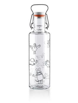"""Soulbottles Trinkflasche aus Glas """"Die Maus Crew"""" 0,6l"""