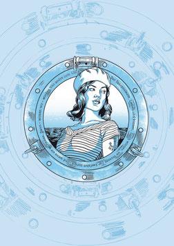 """Maritime Postkarte """"Trine"""""""