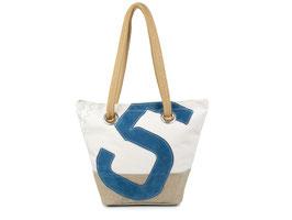 727 Shopper Handtasche Legende Leinen & Leder Nr. 5