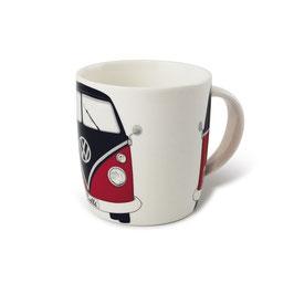 Original VW Bulli Keramik Becher T1 Front rot/schwarz