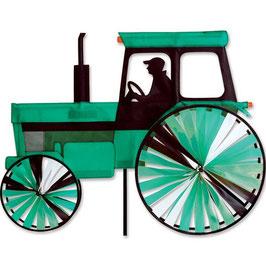 Hochwertiges Windspiel Trecker Traktor Modern grün