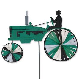 Hochwertiges Windspiel Trecker Old Traktor XL grün