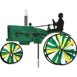 Hochwertiges Windspiel Trecker Old Traktor L grün