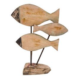 Holzfigur kleiner Schwarm Fische