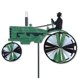Hochwertiges Windspiel Trecker Old Traktor S grün
