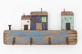 Schlüsselbrett Kleines Dorf am Meer