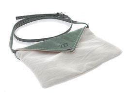 727 Handtasche Lys aus Segeltuch weiß/sauge