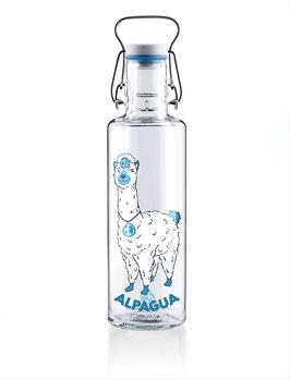 "Soulbottles Trinkflasche aus Glas ""Alpagua"" 0,6l"