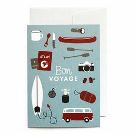 """Grußkarte """"Bon Voyage"""" mit Umschlag"""