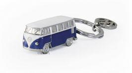 VW Bulli Schlüsselanhänger T1 Bus 3D blau
