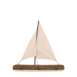 Maritime Holz Garderobe Segelboot Nature