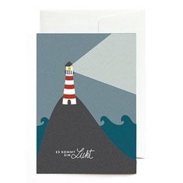 """Grußkarte """"Es kommt ein Licht"""" mit Umschlag"""