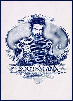 "Maritime Postkarte ""Vintage Bootsmann"""