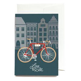 """Grußkarte """"Love to Ride"""" mit Umschlag"""