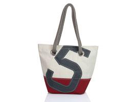 727 Shopper Handtasche Legende weiß/rot Nr. 5 grau