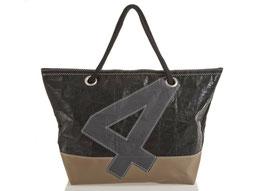 727 Shopper Handtasche Carla Tech-Sail schwarz/braun Nr. 4 schwarz