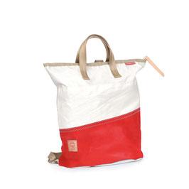 360° Rucksacktasche Ketch mini weiß/rot