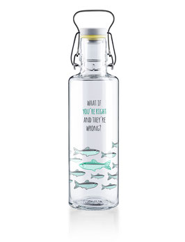 "Soulbottles Trinkflasche aus Glas ""You´re right"" 0,6l"