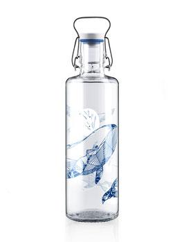 """Soulbottles Trinkflasche aus Glas """"Souldiver"""" 1,0l"""