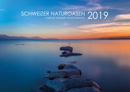 """Wandkalender """"Schweizer Naturoasen 2019"""" A3 quer"""