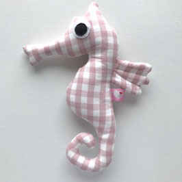 Seepferd-Rassel rosa Karo