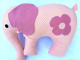 Elefant rosé/kleine goldene Pünktli mit Blume