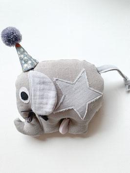 Zirkuselefanten Spieluhr grau