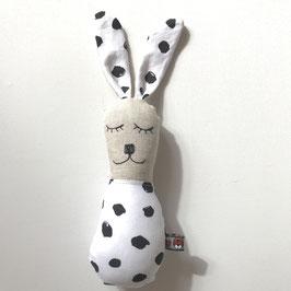 Bunny-Rassel grosse Tupfen schwarz/weiss