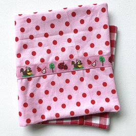 Pixi - Hülle - rosa/rot mit Eichhörnchen