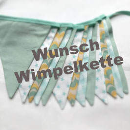 Wunsch Wimpelkette 3 Meter