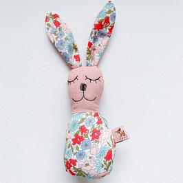Blümchen-Bunny-Rassel rosé/rot