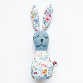 Blümchen-Bunny-Rassel rauchblau/rot